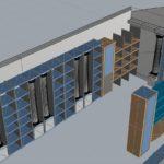 Ricostruzione 3D della farmacia Fraracci a Castel di Sangro